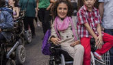 La senadora Virginia Felipe, en una imagen junto a su familia en 2015,...