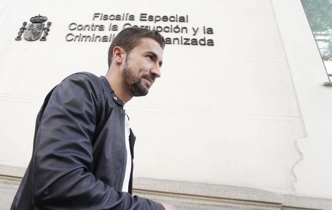 Gabi, tras declarar en 2014 ante la Fiscalía anticorrupción.