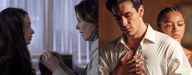 Elena Rivera y Lydia Bosch, en la serie 'La verdad' (izquierda); y...