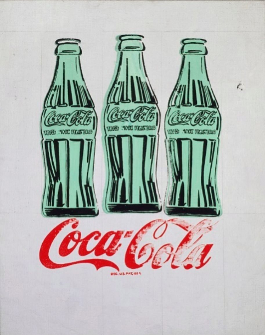 Tres botellas de Coca-Cola  (1962).