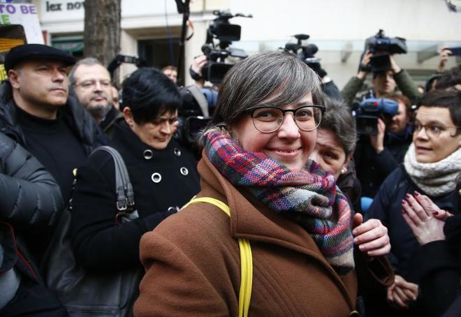 La diputada de la CUP, Mireia Boya, a su llegada al Tribunal Supremo