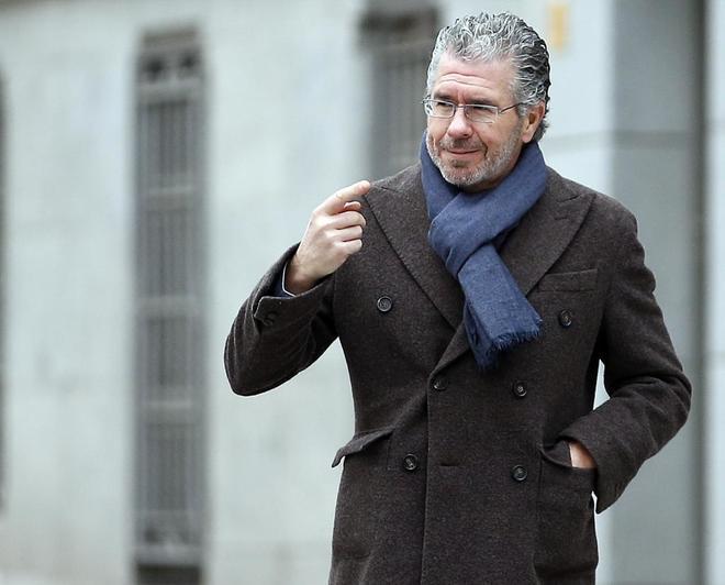 Francisco Granados, a su llegada a la Audiencia Nacional
