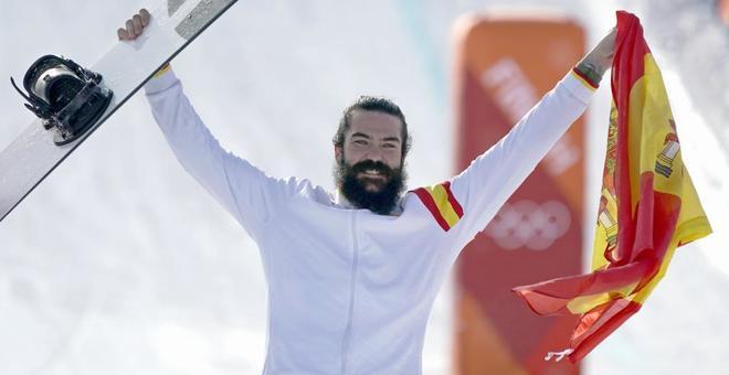 Regino Hernández, en la ceremonia de medallas, este jueves.