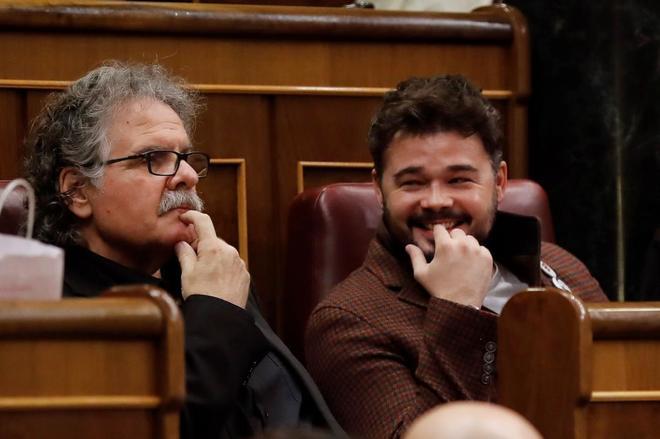 Los diputados de ERC en el Congreso, Joan Tardá y Gabriel Rufián