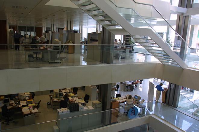Interior de la sede del Consell Insular de Ibiza.