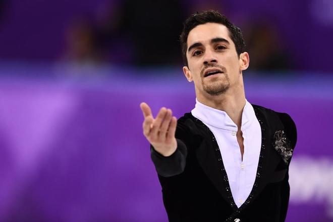 Javier Fernández durante su actuación en los Juegos, este viernes.
