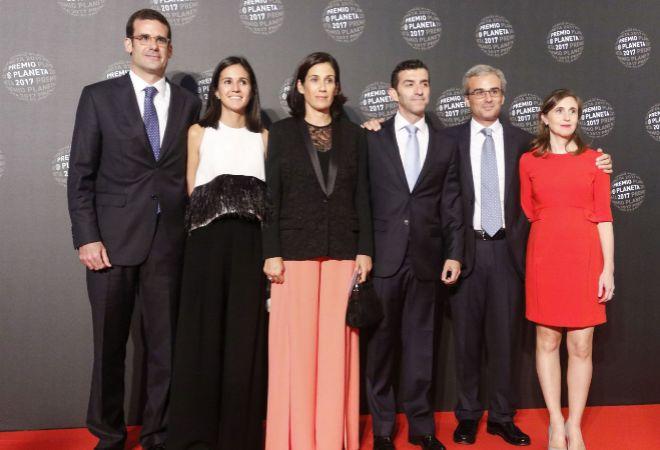 De izquierda a derecha: Pablo Lara García, Anna Brufau, Marta Lara García, David Chumilla, José Lara García y Magda Colom, en la pasada edición de los Premios Planeta. .