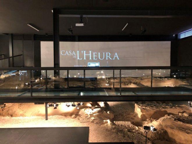 Espacio de la Casa de L'Heura, un nuevo espacio arqueológico en el Museo de Badalona.