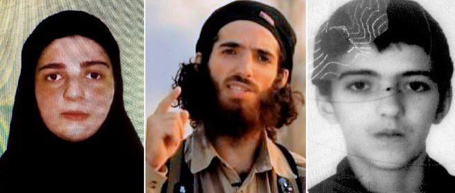 Tomasa, su primer hijo, el terrorista que amenazó tras el atentado de Las Ramblas; y su hijo pequeño.