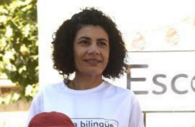 Ana Losada, líder de la Asamblea Escuela Bilingüe