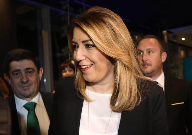 La presidenta de la Junta de Andalucía, Susana Díaz, en Barcelona