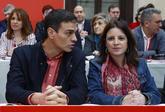 Pedro Sánchez, con Adriana Lastra este sábado en el Comité Federal...