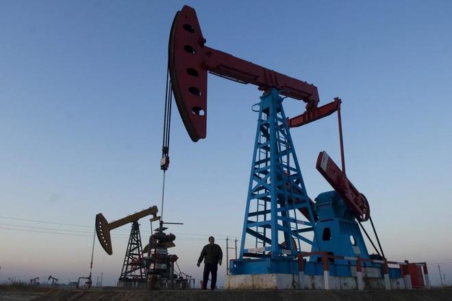 La plataforma petrolífera de Gudong en Dongying (China).