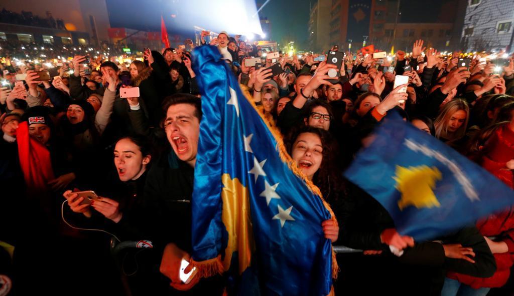 Concierto de la cantante kosovar Rita Ora por el aniversario de la independencia de Kosovo.
