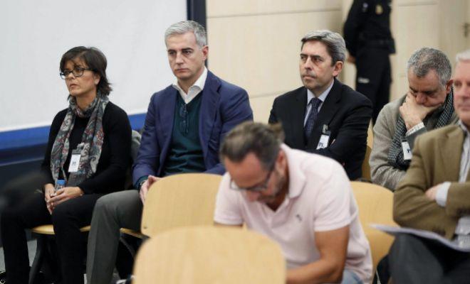 Ricardo Costa y 'El Bigotes' durante el juicio de Gürtel en la Audiencia Nacional.