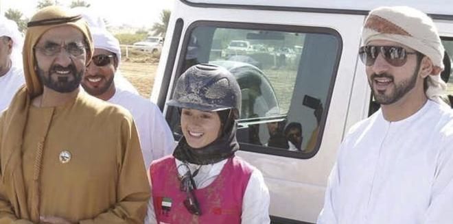 Calvo junto a Mohamed bin Rashid Al Maktum, gran valedor de estas...