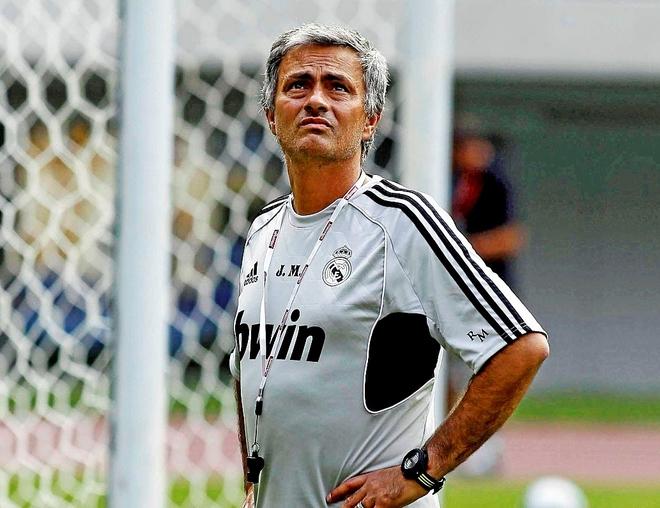 José Mourinho, en 2011, durante su etapa como entrenador del Real...