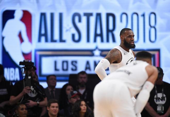 LeBron James, durante el partido.