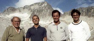 El ex presidente de la Generalitat, Jordi Pujol, en el monte Aneto con...