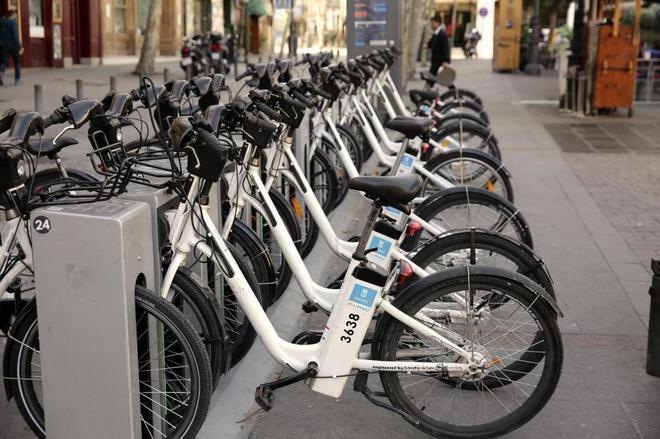 Bicicletas de Bicimad de la Comunidad de Madrid.