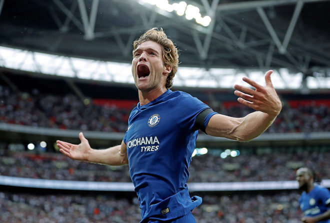 Alonso celebra un gol ante el Tottenham.