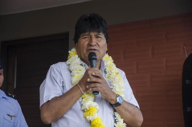 El presidente boliviano, Evo Morales, en Cochabamba (Bolivia).