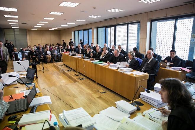 Detalle del juicio que se sigue en la Audiencia Nacional por el 'caso...