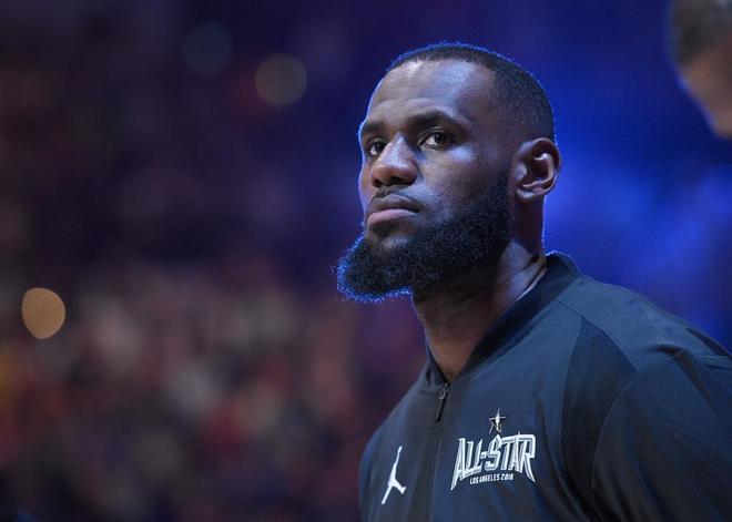 LeBron James, durante el All Star de la NBA celebrado en Los Angeles.