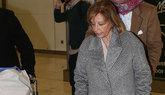 María Teresa Campos, hace unos días en el aeropuerto de Madrid.