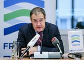 Fabrice Leggeri, en la rueda de prensa celebrada hoy en Bruselas.