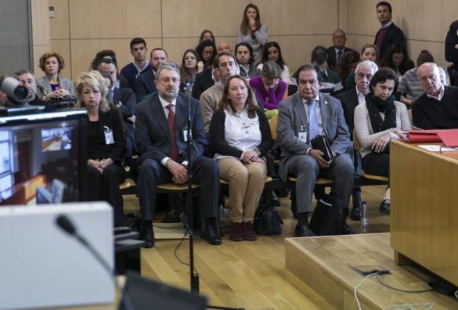 Imagen de los acusados en el juicio que se sigue en la Audiencia...