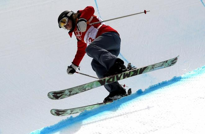 La húngara Elizabeth Swaney, durante su participación en Pyeongchang.