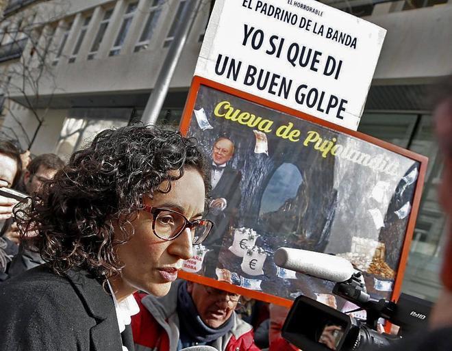 Marta Rovira, tras declarar en el Tribunal Supremo.