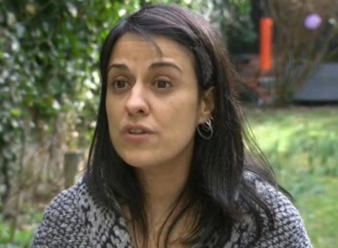 Anna Gabriel, en una captura del vídeo con la entrevista a un medio...