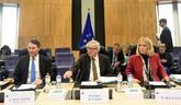 Clara Martínez Alberola, con Jean-Claude Juncker.
