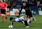 Gareth Bale peleando por un balón en el encuentro ante el Leganés en...