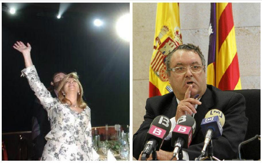 Maria Antònia Munar y el juez Pedro Barceló.