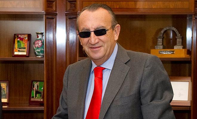 Carlos Fabra cuando era presidente de Aerocas, la empresa pública gestora del aeropuerto de Castellón.
