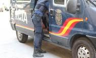 Un agente de la Policía Nacional de Valencia.