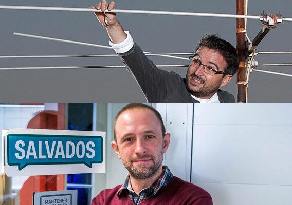 Jordi Évole y Ramón Lara (abajo) dirigen 'Salvados' en La Sexta.
