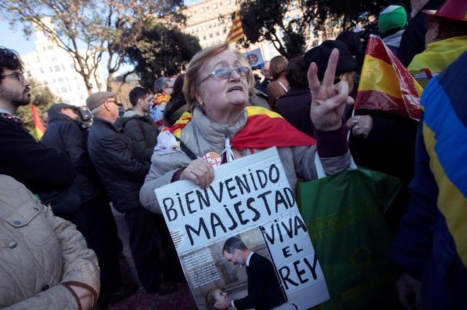 Concentración convocada por Tabarnia en Barcelona para dar la...