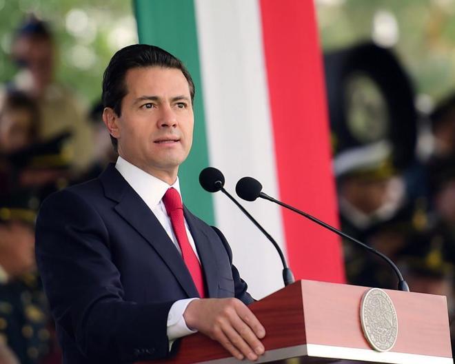 Fotografía cedida por la Presidencia de México que muestra al presidente Enrique Peña Nieto.