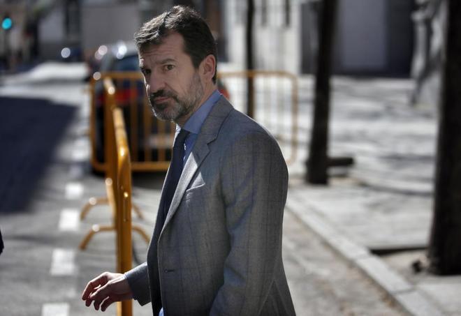 Ferran López, actual jefe de los Mossos d' Esquadra, a su salida del...