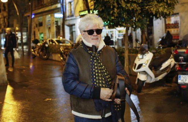 Pedro Almodóvar el pasado mes de enero cuando acudía al concierto de Carla Bruni en Madrid.