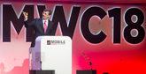 El CEO de Vodafone, Vittorio Colao, en la primera jornada del MWC.