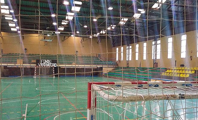 Instalaciones del polideportivo municipal de Nules donde entrena el club.