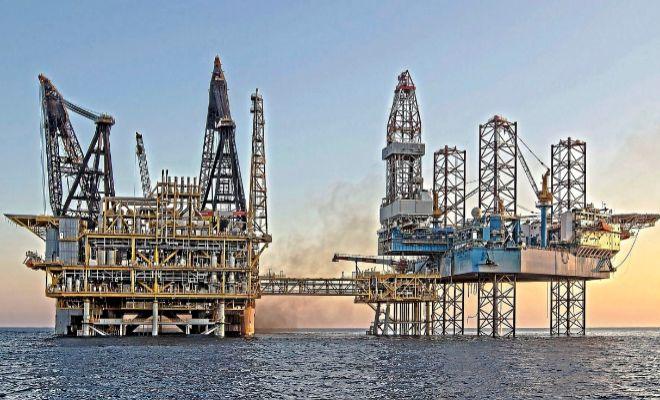 La plataforma del almacén de gas Castor en la costa de Vinaròs.