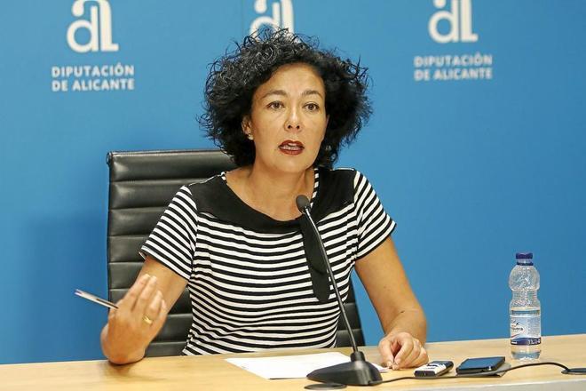 La diputada provincial del EUPV, Raquel Pérez.