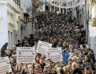 Manifestación en Menorca, convocada por Mos Movem!