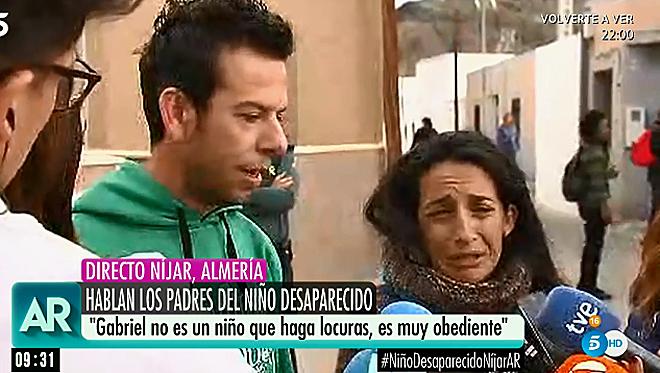 Los padres de Gabriel, el niño desaparecido en Níjar (Almería), en...